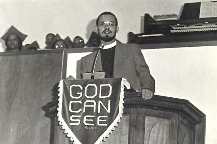 Stanley Green preaching