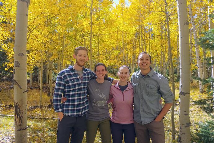 The 2019-2020 Alamosa, Colorado MVS Unit (L-R): Connor Born, Roxy Gehring, Hannah Thill, and Jonatan Moser.