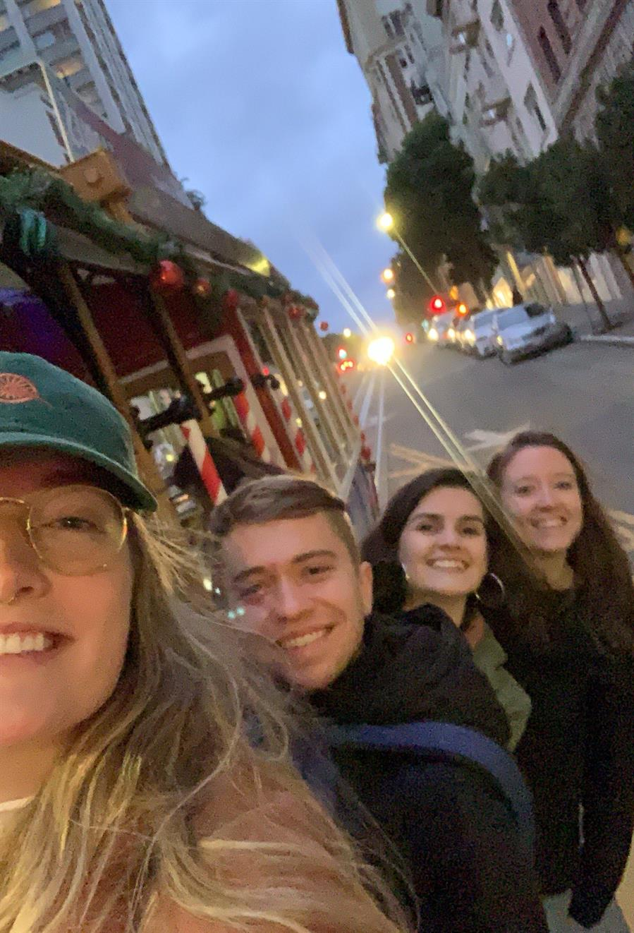 The 2019-2020 San Francisco, California MVS unit (L-R): Kristin Anton, Jacob Regier, Irena Xhari, and Leah Friesen. Photo by Kristin Anton.